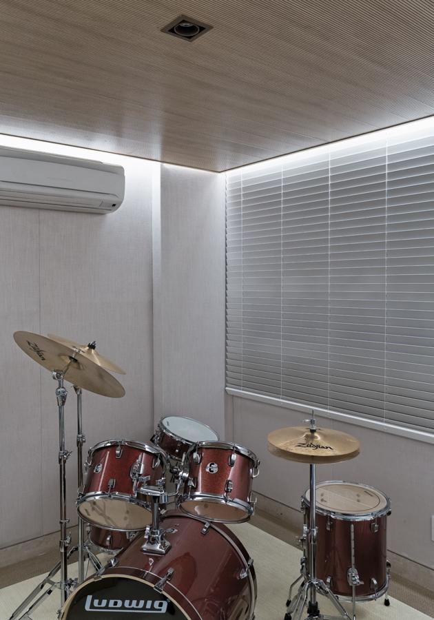 Sala de Música com isolamento acústico projeto