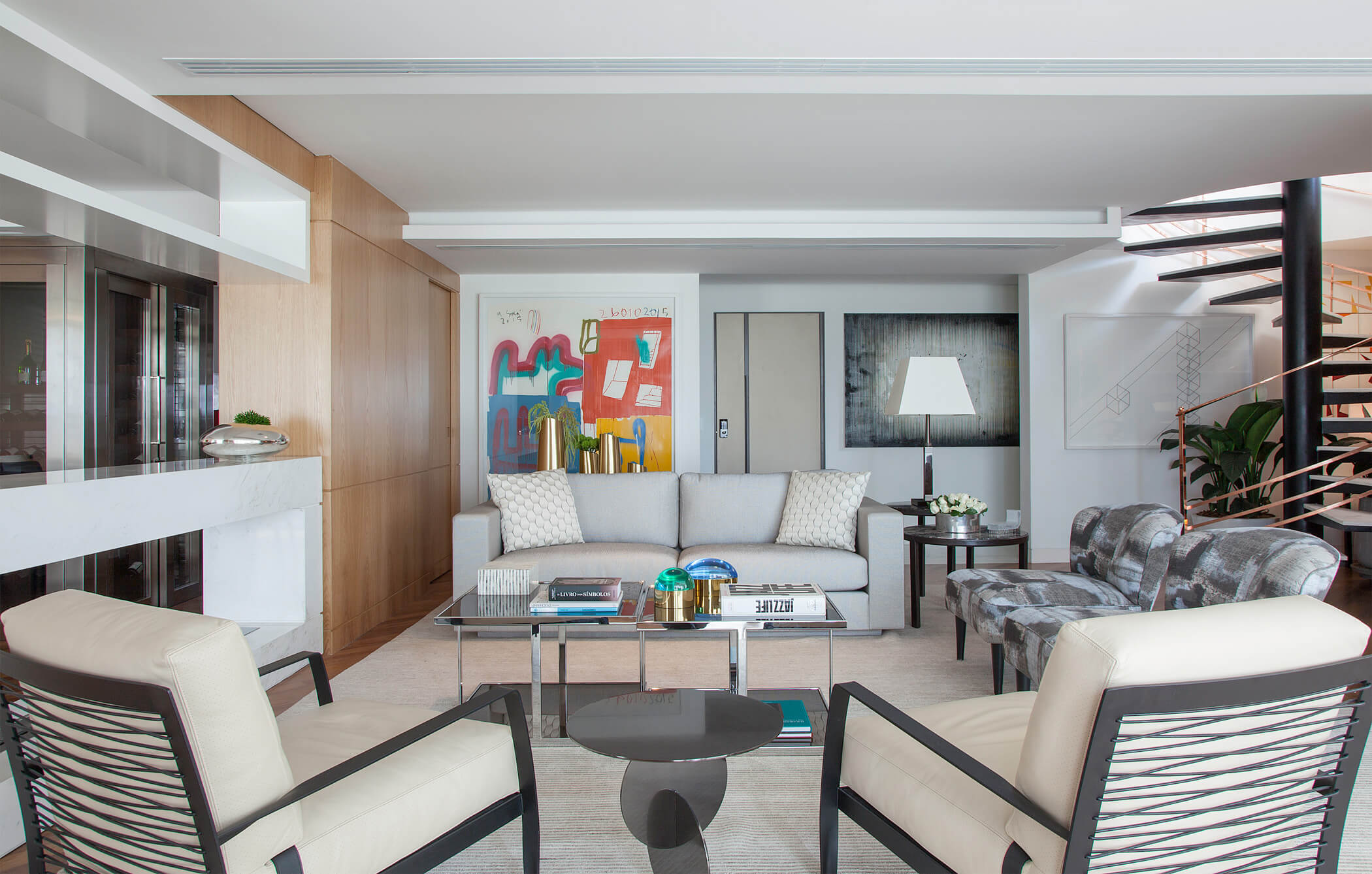 Sala de Jantar e Living - Projeto de Arquitetura e Decoração Residencial