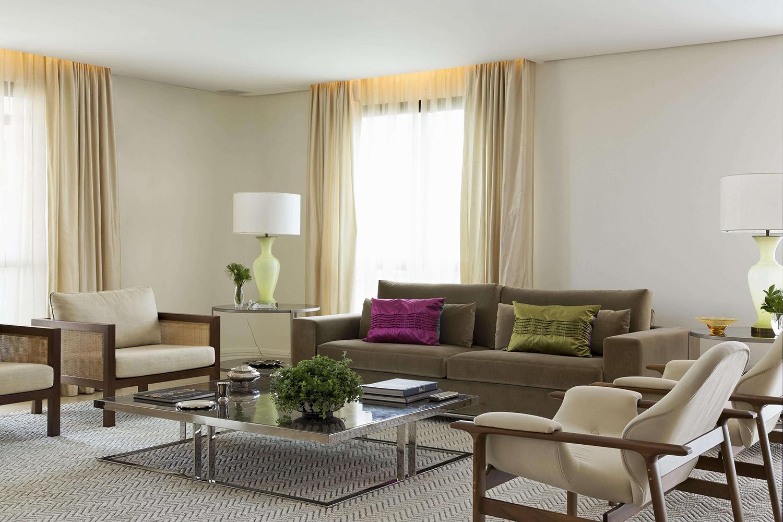 Projeto de decoração moderno para apartamento