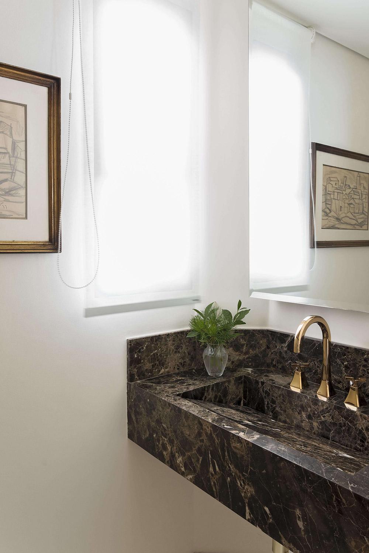 Projeto de arquitetura para lavabo pequeno
